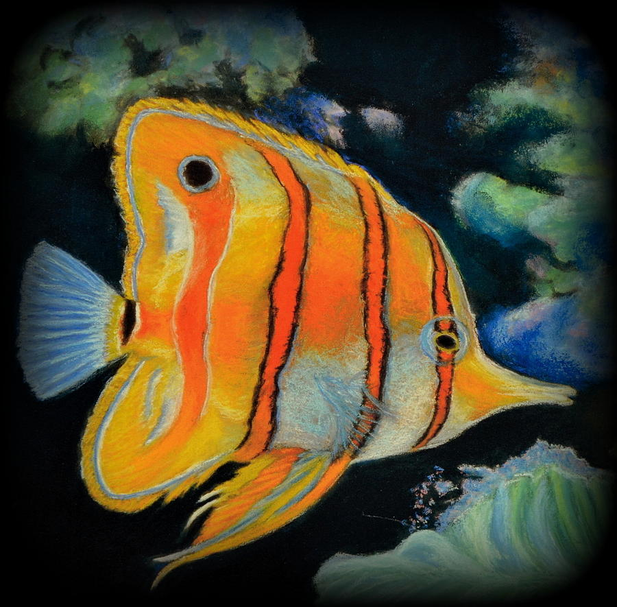 Fish Pastel - Butterfly Fish by Antonia Citrino
