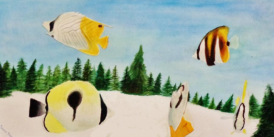 Butterfly Painting - Butterfly Fish by Savanna Paine