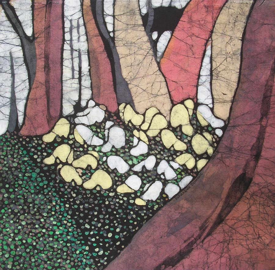 Nature Tapestry - Textile - Butterfly Forest Party by Lukandwa Dominic