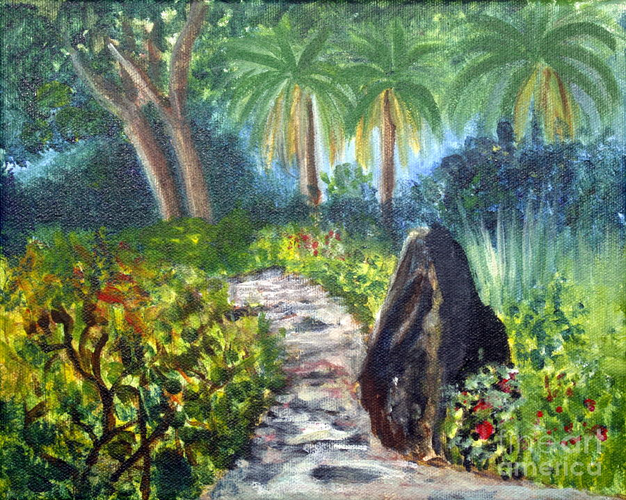 Artist Painting - Butterfly Garden At Gumbo Limbo by Donna Walsh