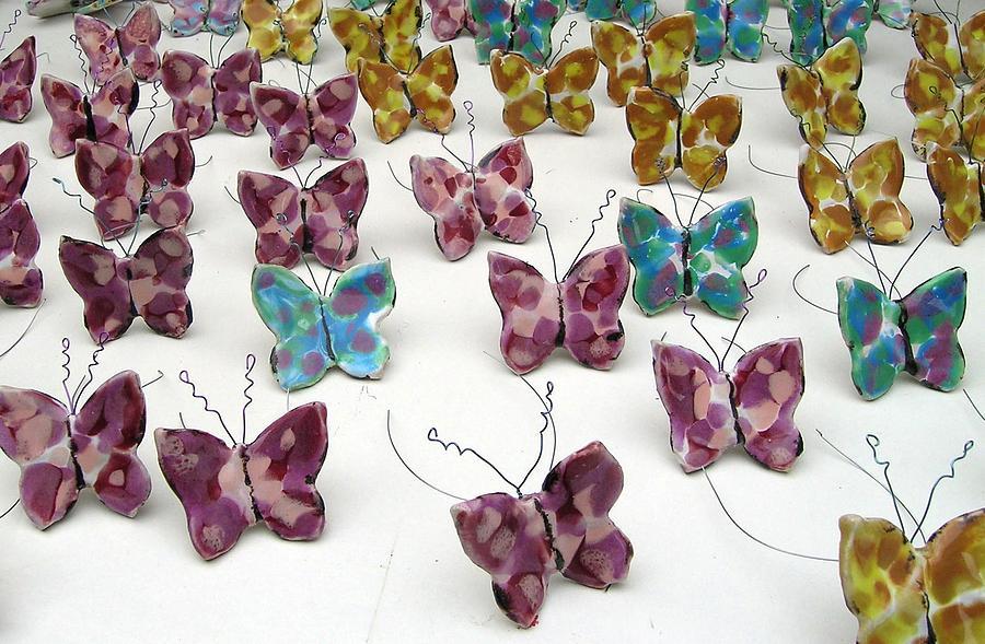Butterfly Sculpture - Butterfly Installation by Renee Kilburn