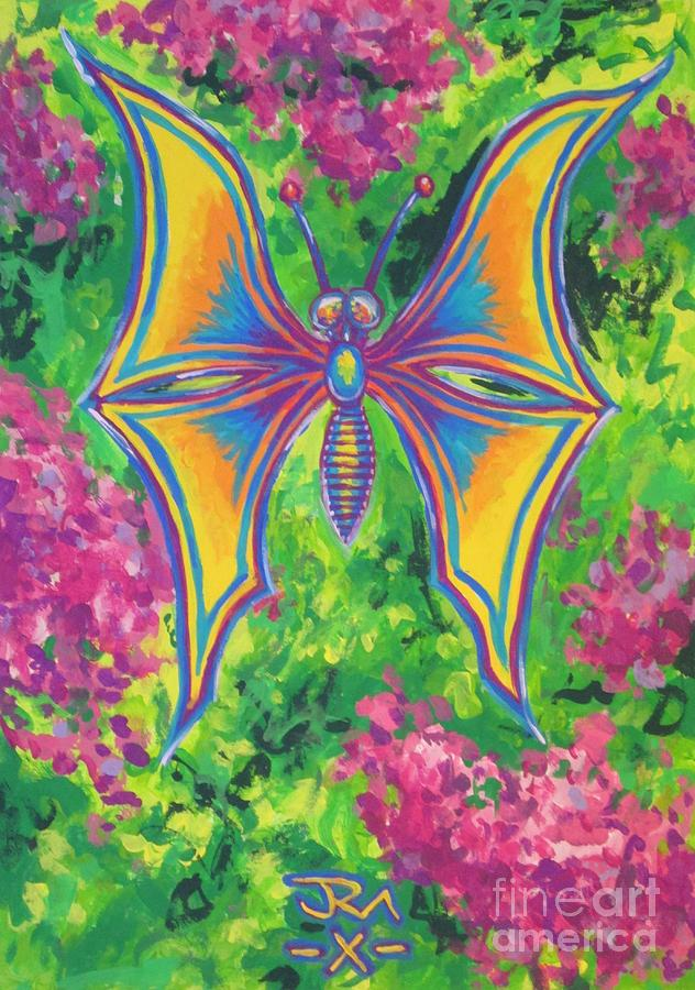 Butterfly Painting by Jedidiah Morley