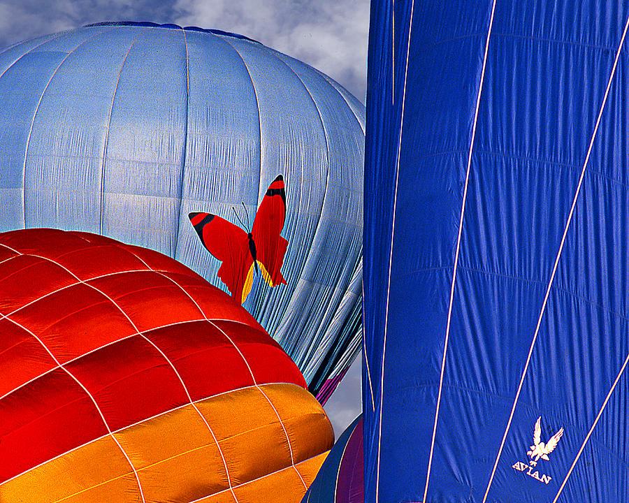 Hot Air Balloons Digital Art - Butterfly by Ken Evans