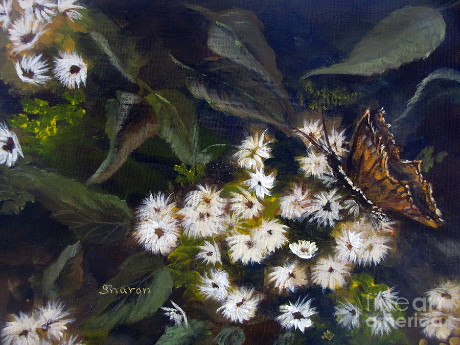 Foliage Painting - Butterfly Kisses by Sharon Burger