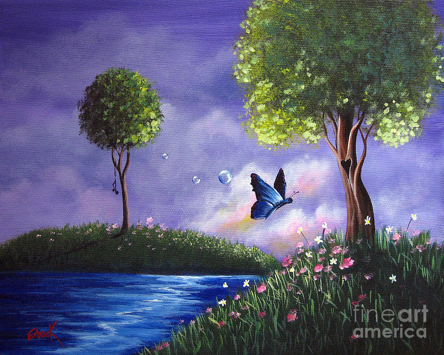 Butterfly Painting - Butterfly Lake By Shawna Erback by Shawna Erback