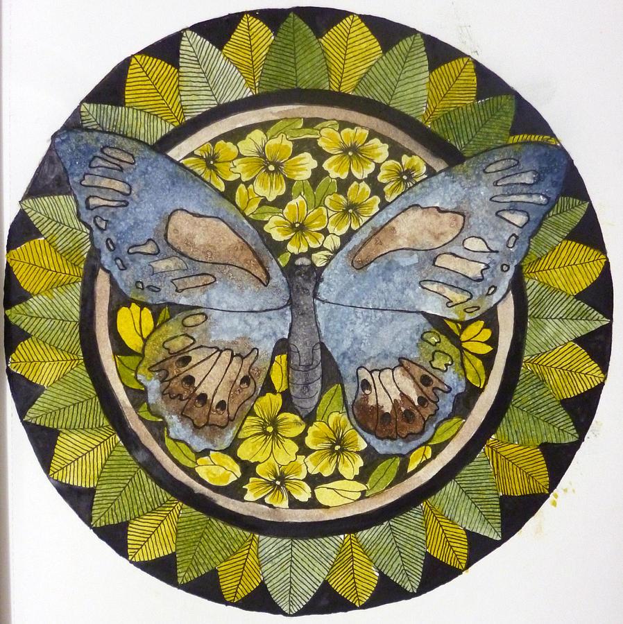 Butterfly Mandala Mixed Media