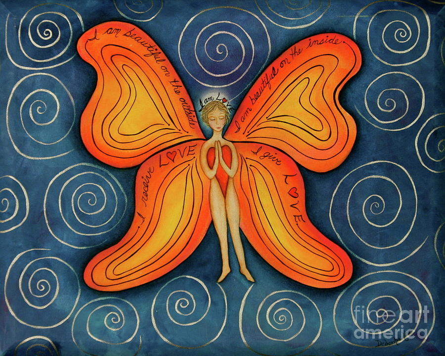 Acrylic Painting Painting - Butterfly Mantra by Deborha Kerr