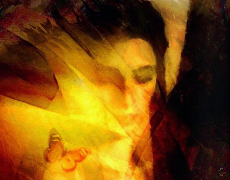 Portrait Digital Art - Butterfly Moment by Gun Legler
