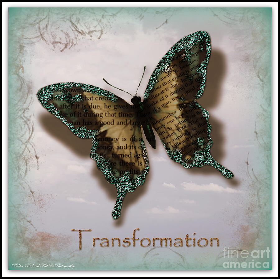 Inspirational Print Photograph - Butterfly Of Transformation by Bobbee Rickard