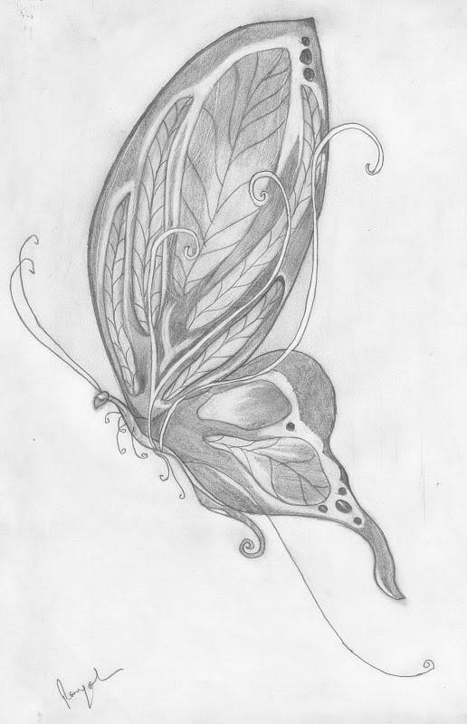 Butterfly drawing by payal patki