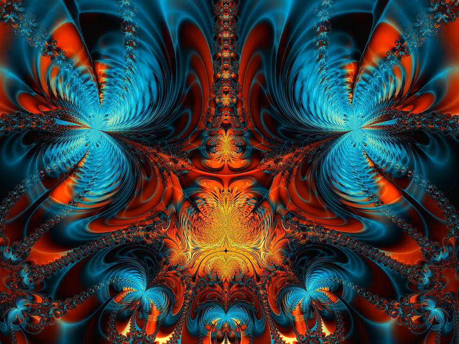 Abstract Digital Art - Butterfly Plasma  by Ian Mitchell