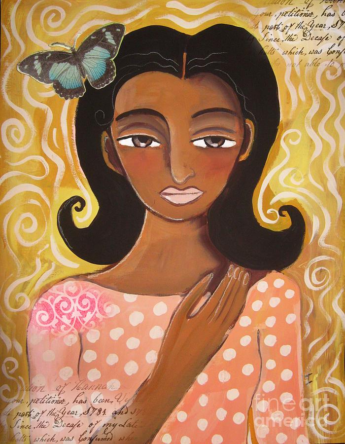 Female Digital Art - Butterfly Totem by Elaine Jackson