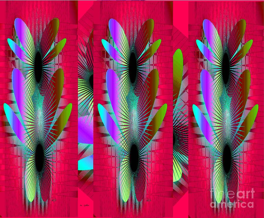 Abstract Digital Art - Butterfly World by Iris Gelbart