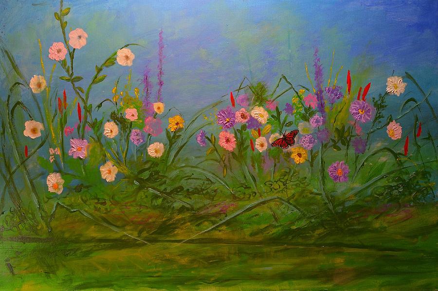 Land Painting - Butterflys Dream Land  by Michael Mrozik