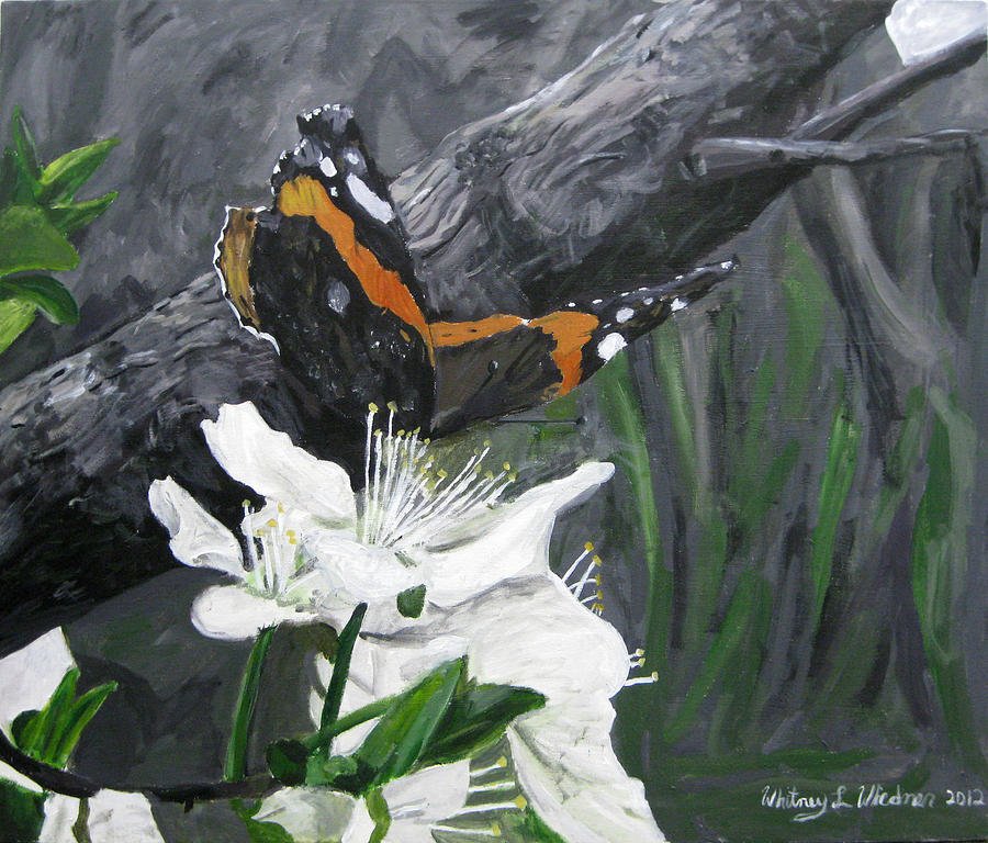 Butterfly Painting - Butterflys First Spring by Whitney Wiedner