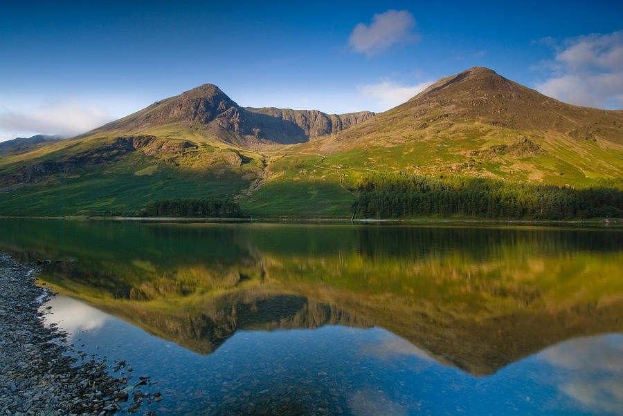 Buttermere Photograph - Buttermere Reflection Lake District by David Ross