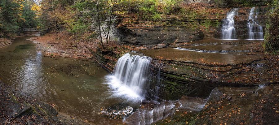 Panorama Photograph - Buttermilk Creek Falls by Mark Papke