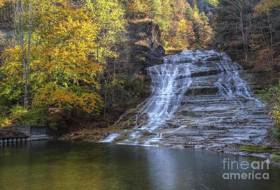 Buttermilk Creek Photograph - Buttermilk Falls Autumn by Colin D Young