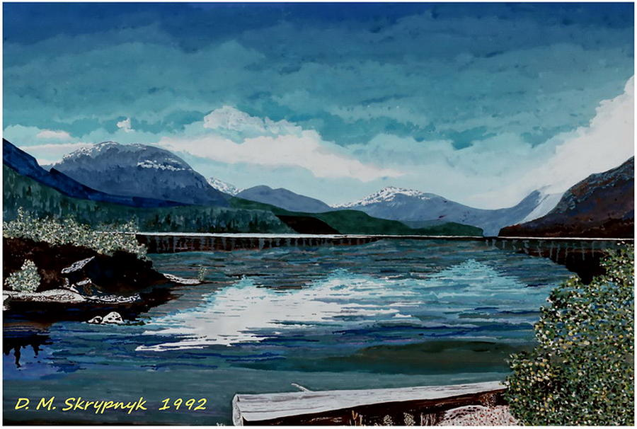 Buttle Lake Painting - Buttle Lake by David Skrypnyk