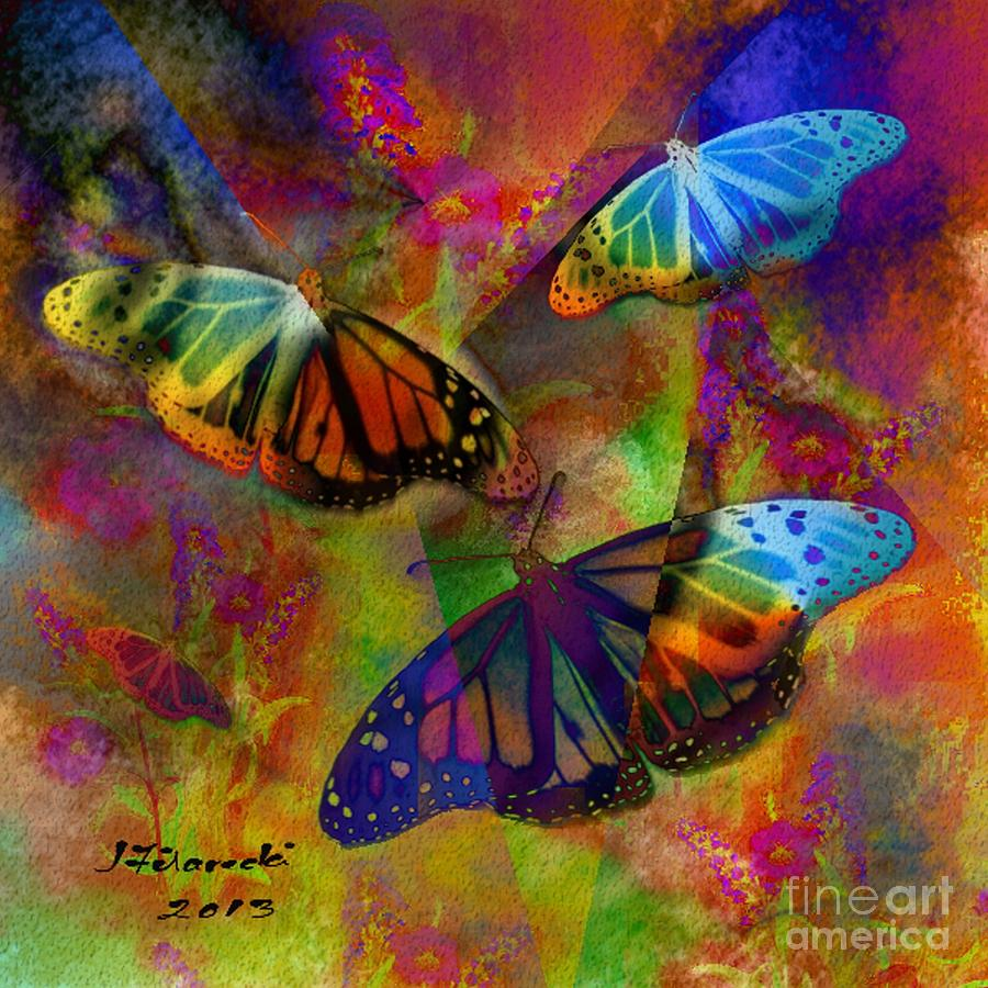 Butterfly Digital Art - Buttrerfly Collage All About Butterflies by Judy Filarecki