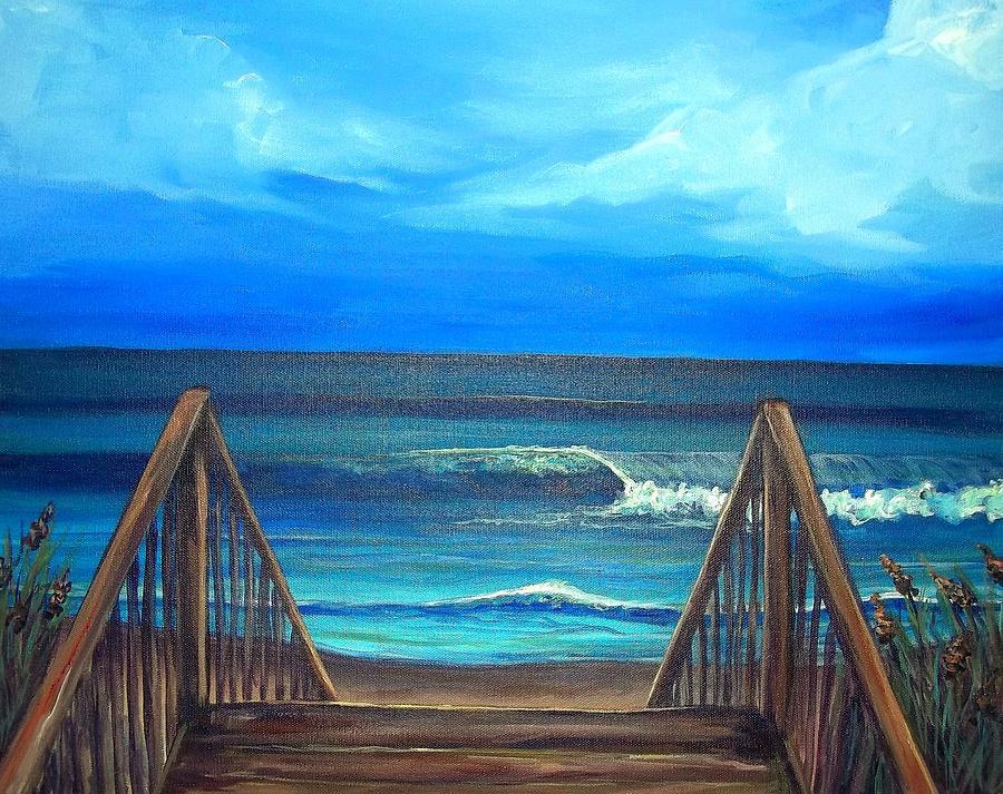 Outer Banks Painting - Buxton Treasures by Dawn Gray Moraga