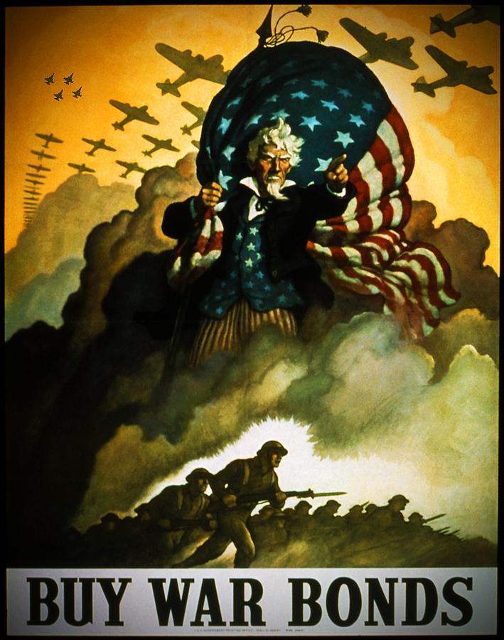 Uncle Sam Digital Art - Buy War Bonds by Bob Geary
