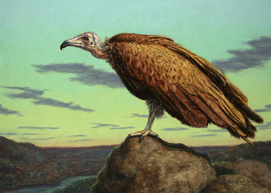 Buzzard Painting - Buzzard Rock by James W Johnson