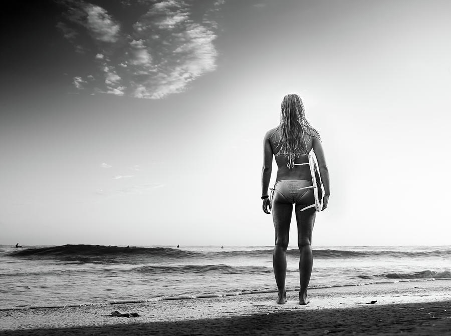 B&w Surfer Photograph by Michaelsvoboda