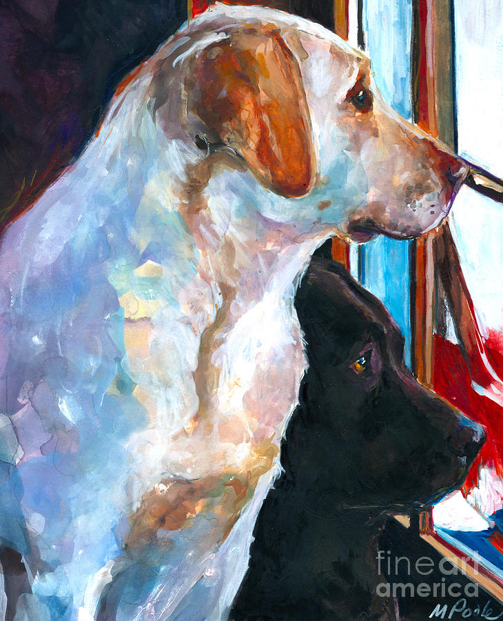 Labrador Retriever Painting - By My Side by Molly Poole