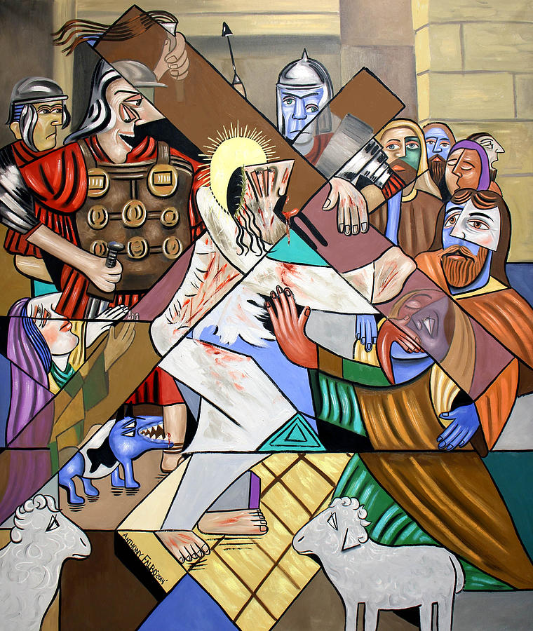 My Wounds You Were Healed Painting - By My Wounds You Were Healed by Anthony Falbo