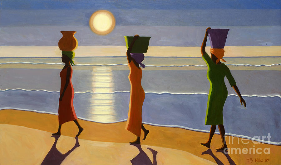 3 Painting - By The Beach by Tilly Willis