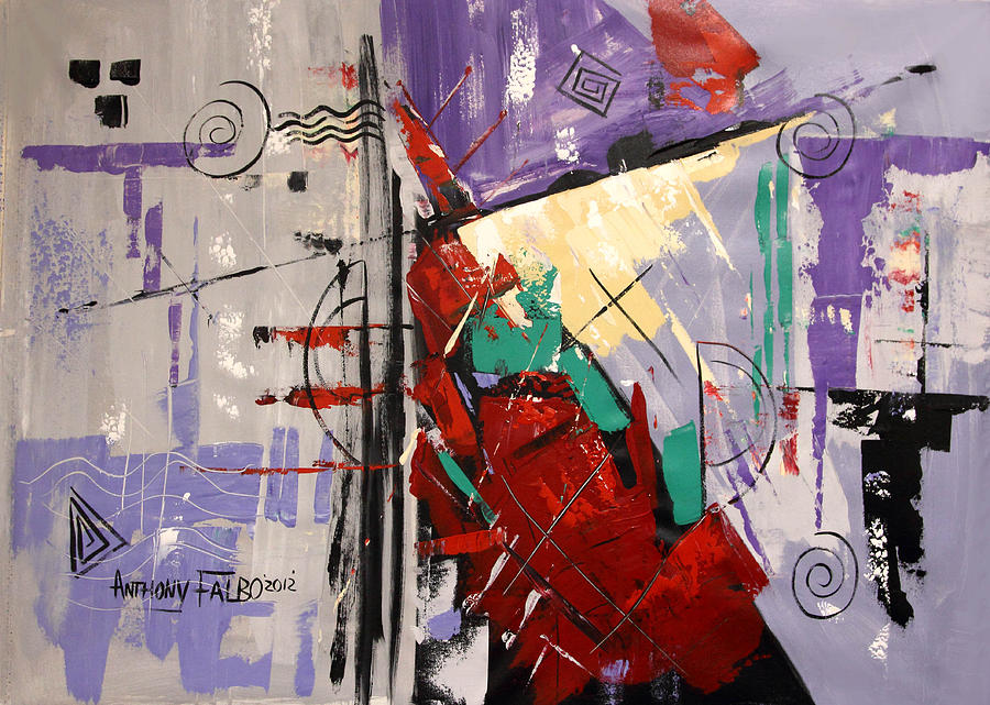 Abstract Painting - By The Blood Of Jesus by Anthony Falbo