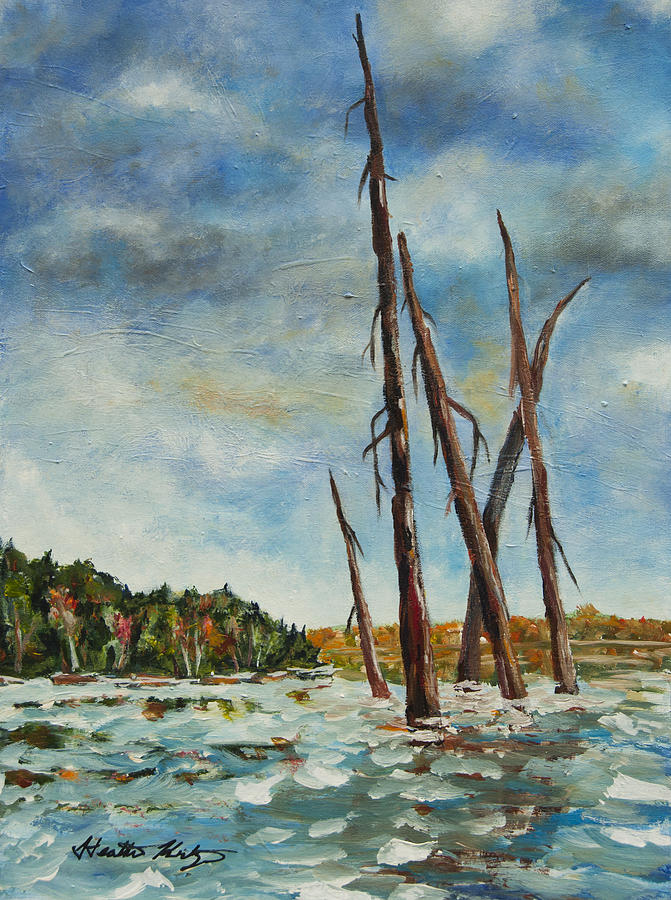Lake Painting - By The Boardwalk by Heather Kertzer