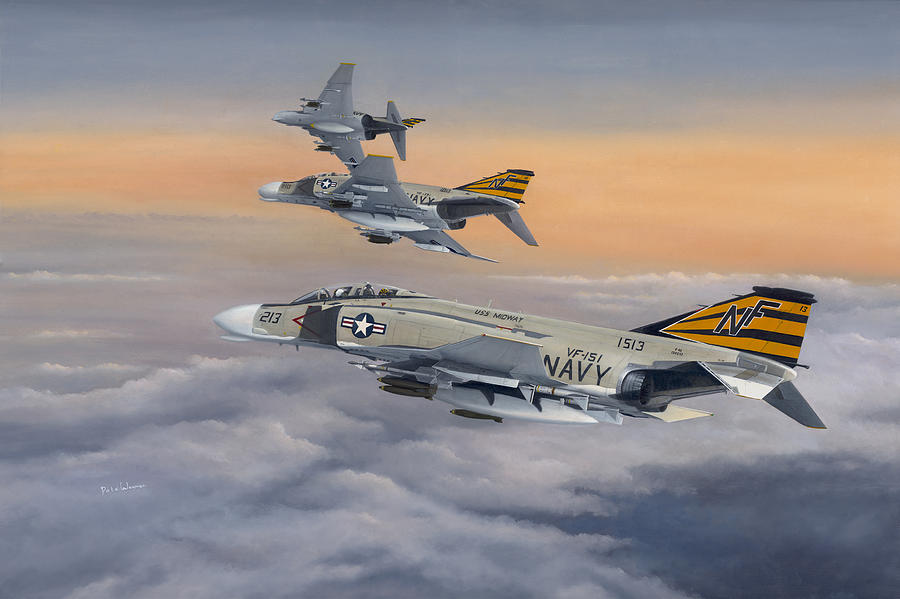 Naval Aviation Painting - By the Dawns Early Light by Pete Wenman