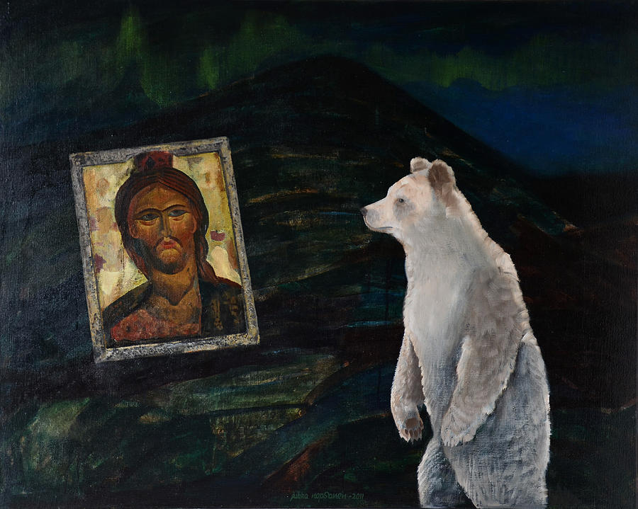 Bear Painting - By The Fell by Jukka Nopsanen