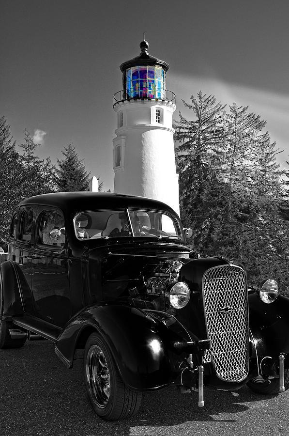 Umpqua Lighthouse Photograph - By The Light by Image Takers Photography LLC