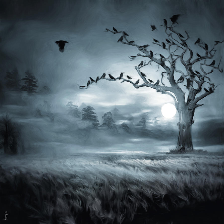Mystery Digital Art - By The Moonlight by Lourry Legarde