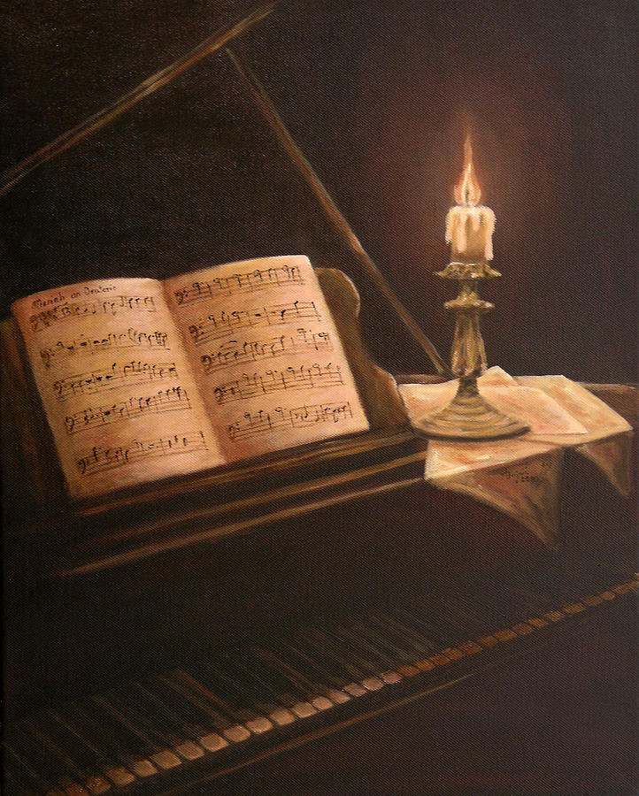 By The Piano Painting by Andreja Dujnic