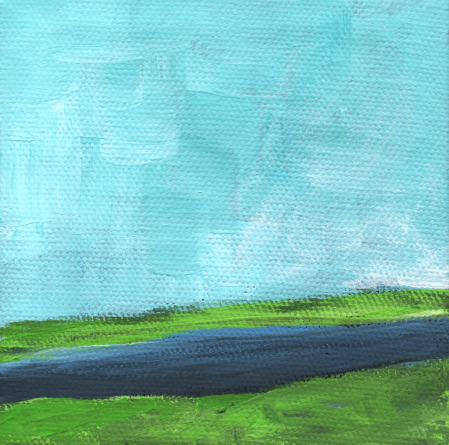 By The River- Abstract Landscape Painting Painting
