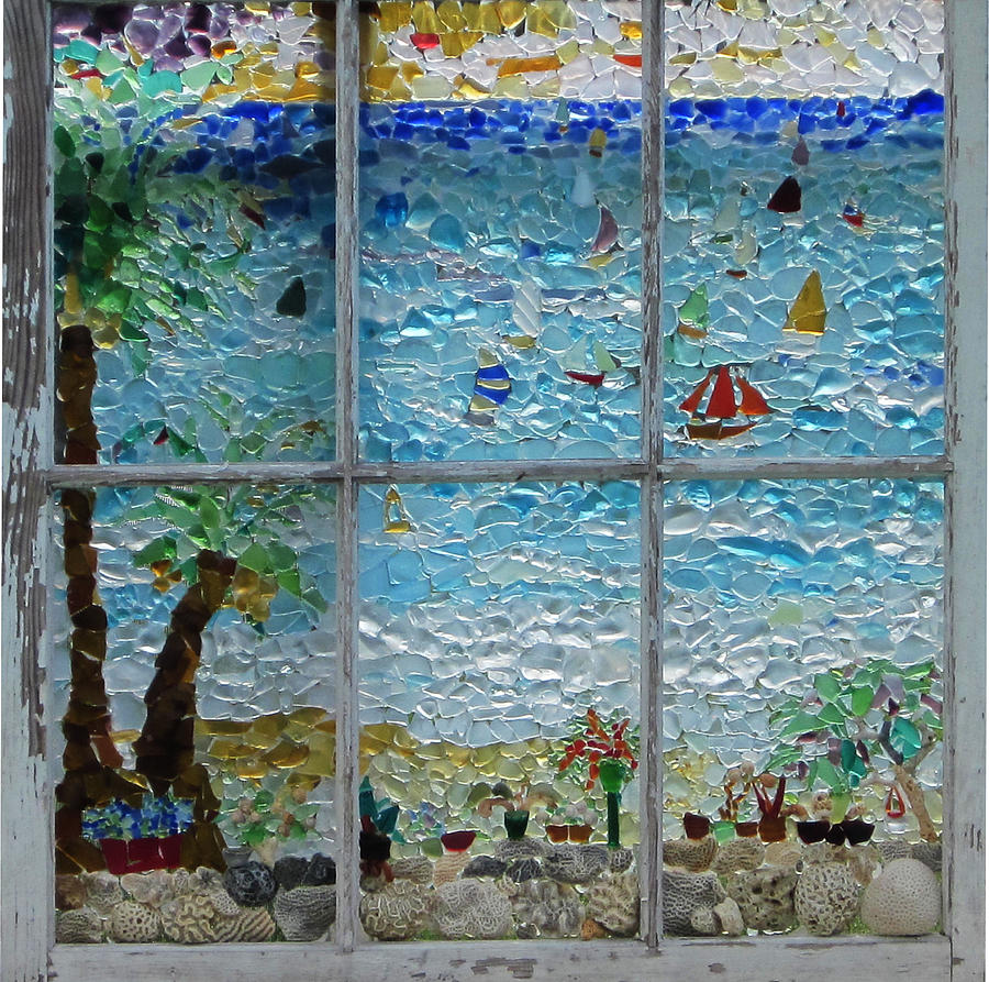 By The Sea Glass Art Anne Marie Brown