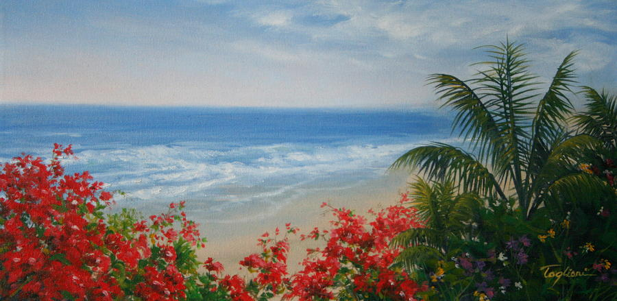 Sea Painting - By The Sea I by Mary Taglieri