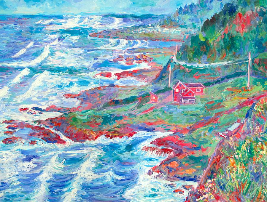 Sea Painting - By The Sea by Kendall Kessler