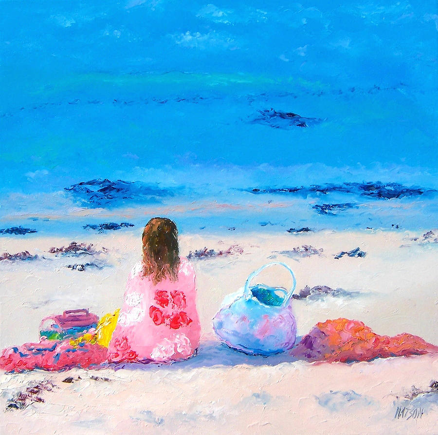 Beach Painting - By The Seaside by Jan Matson