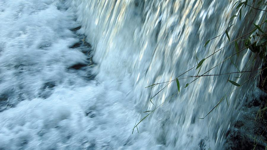 Landscape Photograph - By The Weir Dam by Cynthia  Clark