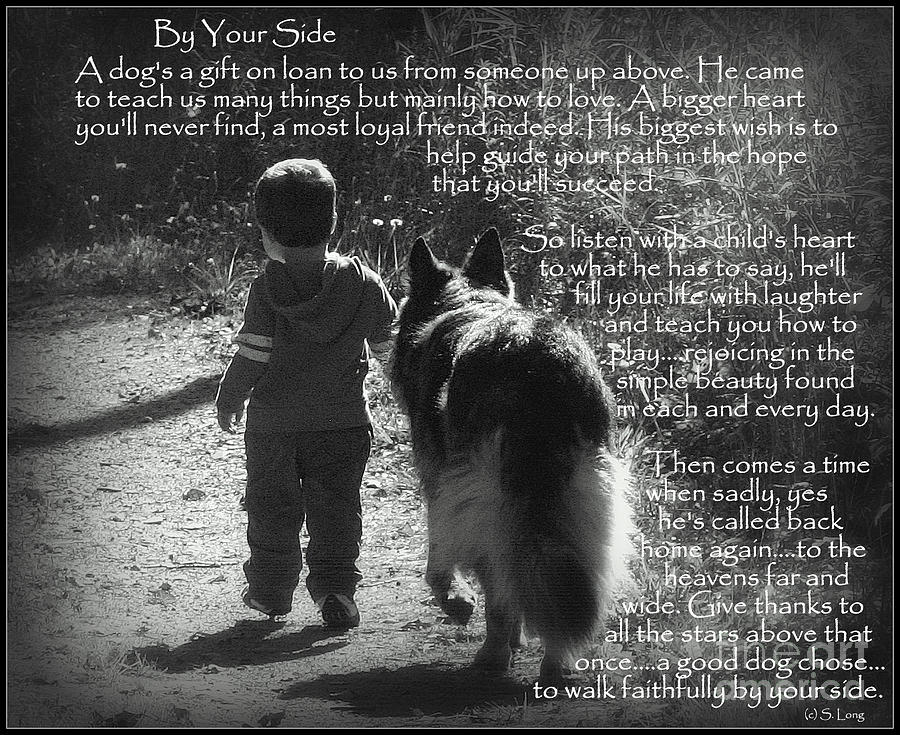 By Your Side Paw Print Photograph By Sue Long