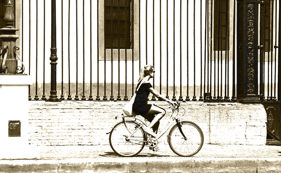 Bycicle Photograph - Bycicle by Herbert Seiffert