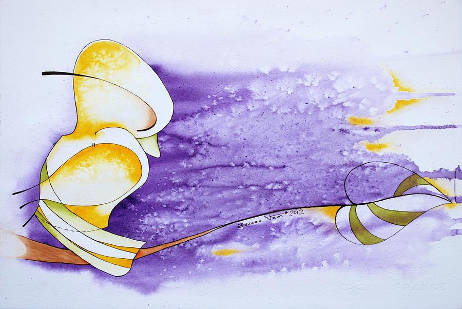 Bird Painting - Bye Bye Birdie by Zuzana Vass