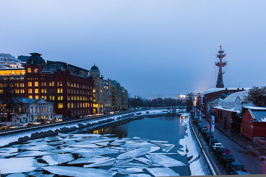 Architecture Photograph - Bypass Canal Of Moscow River - Featured 3 by Alexander Senin