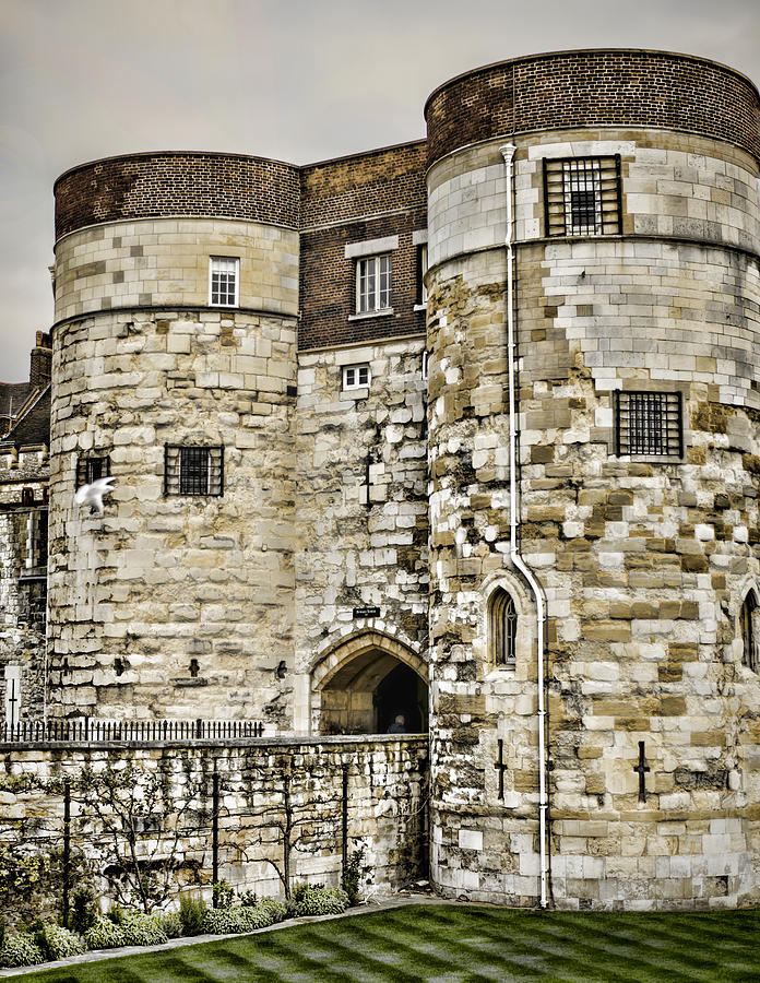 Tower Of London Photograph - Byward Tower by Heather Applegate