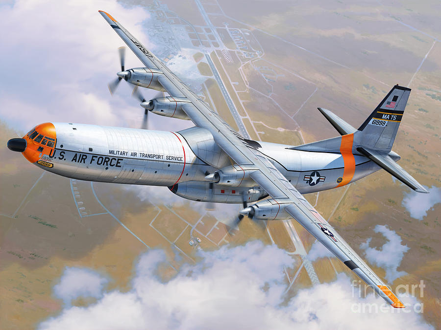 C 133 Cargomaster Over Travis Digital Art By Stu Shepherd